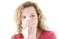 белокурый чихать Стоковые Фото