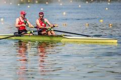 Белорусские спортсмены на rowing конкуренции чашки мира гребя Стоковые Фото