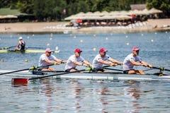 Белорусские спортсмены на rowing конкуренции чашки мира гребя Стоковая Фотография