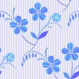 Бело-голубой безшовный цветочный узор вектор иллюстрация вектора