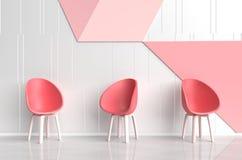 Бело-красная розовая комната влюбленности Комнаты влюбленности на день ` s валентинки иллюстрация штока