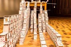 БЕЛУ-ОРИЗОНТИ, БРАЗИЛИЯ - 12, ОКТЯБРЬ 2017: Instalation i искусства стоковые изображения rf