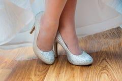 Белые ботинки венчания Стоковое Фото