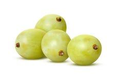 Белые виноградины с путем клиппирования Стоковое Фото