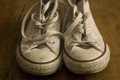 Белые винтажные ботинки Стоковое Изображение RF