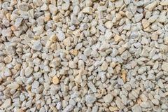 Белые декоративные задавленные камни для ландшафта конструируют, украшение благоустраивая сады и парки Стоковые Фото