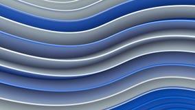 Белые и голубые волнистые кривые резюмируют перевод 3D иллюстрация штока