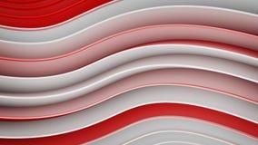 Белые и красные волнистые кривые резюмируют перевод 3D иллюстрация вектора