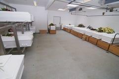 Белые комоды в рядке Стоковое фото RF