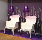 Белые кресла Стоковое Изображение RF