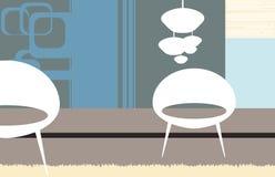 Белые кресла Стоковые Изображения RF