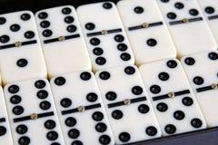 Белые мраморные домино Стоковые Изображения RF