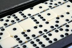 Белые мраморные домино Стоковое фото RF