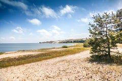 Белые песчанные дюны на Балтийском море, Nida, Литве Стоковая Фотография RF