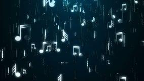 Белые примечания музыки абстрактная предпосылка Иллюстрация цифров