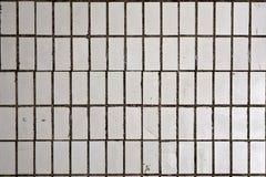 Белые советские плитки на стене Стоковые Фото