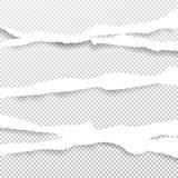 Белые сорванные прокладки пересечения раскосные бумажные для примечания или сообщения вставили на приданной квадратную форму серо бесплатная иллюстрация