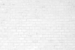 Белые текстура и предпосылка кирпичной стены Стоковая Фотография