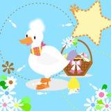 Белые утка и яичка бесплатная иллюстрация