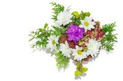 Белые цветки хризантемы, букета цветков, 8-ое марта Стоковые Фото