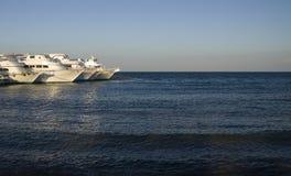 белые яхты Стоковые Фотографии RF