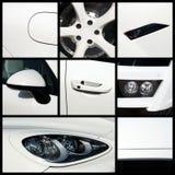 Белый автомобиль Стоковое фото RF