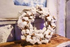 Белый венок хлопка Стоковое Фото