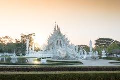 Белый висок искусства на Wat Rong Khun Chiang Rai стоковые изображения