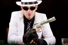 Белый гангстер костюма Стоковые Изображения RF