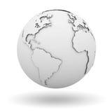 Белый глобус Стоковая Фотография RF