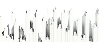 белый горизонт города Стоковое фото RF