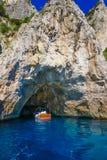 Белый грот острова Капри, Италии стоковое изображение rf