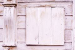 Белый деревянный старый квадрат текстуры Стоковые Фото