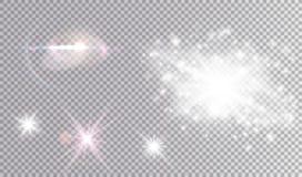 Белый и покрашенный комплект световых эффектов космический бесплатная иллюстрация