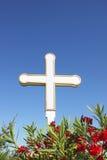 Белый крест Стоковое фото RF
