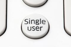 Белый круглый отдельный пользователь переключателя кнопки Стоковое фото RF