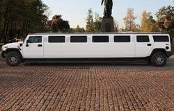 белый лимузин венчания Стоковая Фотография