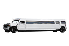Белый лимузин Стоковое Фото