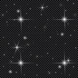 Белый накаляя светлый взрыв взрыва с прозрачным Иллюстрация вектора для холодного украшения влияния с лучем сверкнает Яркое sta Стоковое фото RF