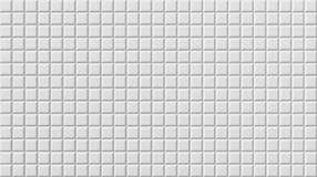 Белый настил плитки, безшовная предпосылка текстуры, 3d иллюстрация вектора