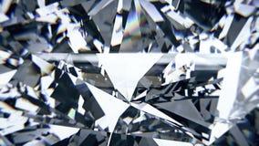 Белый отснятый видеоматериал рассеивания диаманта Предпосылка причудливого диаманта цвета оживленная акции видеоматериалы