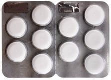 Белый пакет волдыря пилек Стоковые Фото