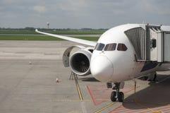 Белый пассажирский самолет Стоковые Изображения RF