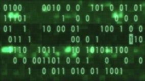 Белый печатать бинарного кода быстрый случайный на старой петле приведенной предпосылки анимации дисплея lcd - новом качественном бесплатная иллюстрация