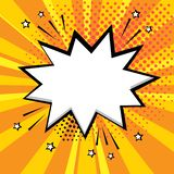 Белый пузырь речи на оранжевой предпосылке Шуточные шумовые эффекты в стиле искусства попа r иллюстрация вектора
