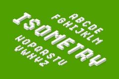 Белый равновеликий шрифт 3d Стоковое Изображение