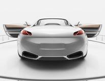 Белый роскошный автомобиль спортов Стоковое фото RF