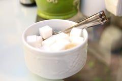 Белый сахар Стоковые Изображения RF