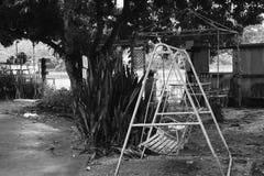 Белый стул качания Стоковые Фотографии RF