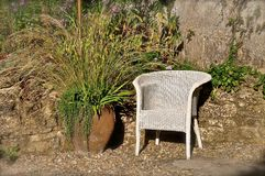 Белый стул тени Ллойд стоковая фотография rf